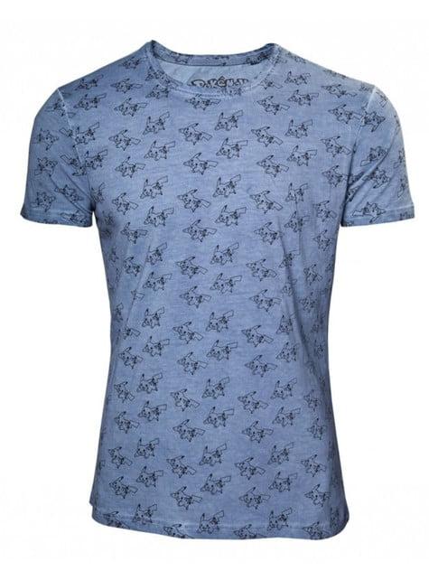 T-shirt Pikachu bleu imprimé