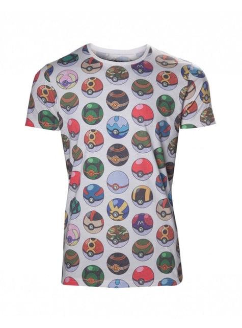 Camiseta de Pokeballs - hombre