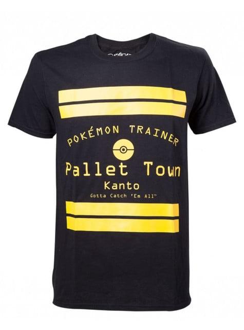 Camiseta de entrenador Pokemon negra