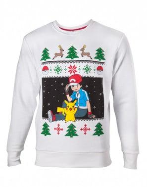 Sweatshirt natalícia de Pokemon para homem