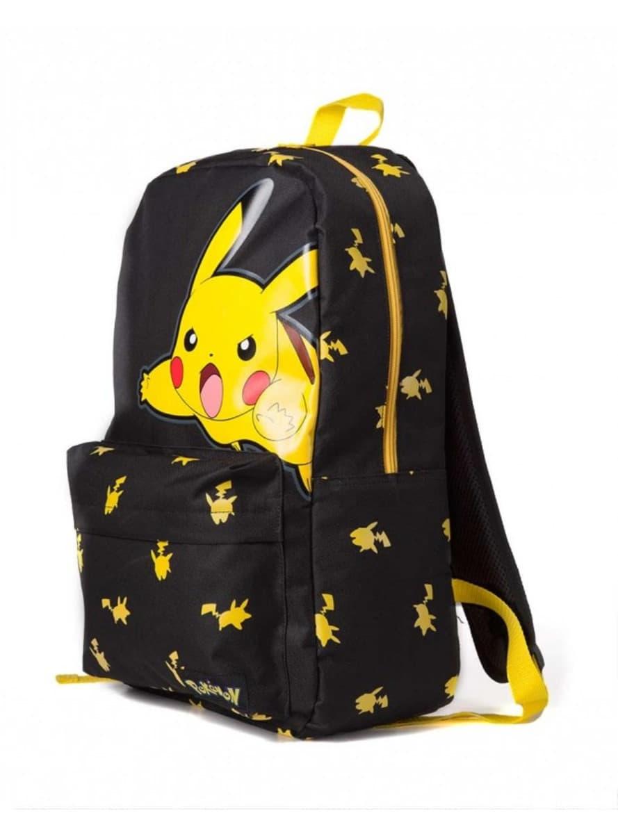 sac dos pikachu noir funidelia. Black Bedroom Furniture Sets. Home Design Ideas
