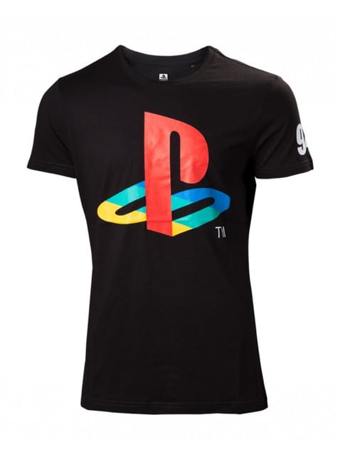 Camiseta de PlayStation negra