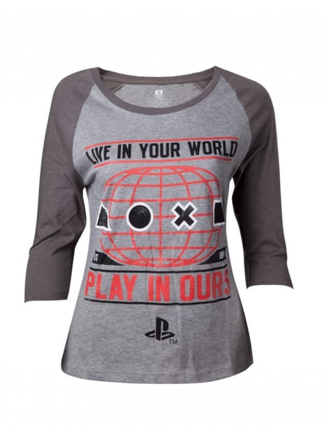 Grey PlayStation t-shirt for women