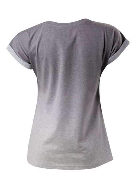 Camiseta de botones PlayStation gris para mujer - mujer