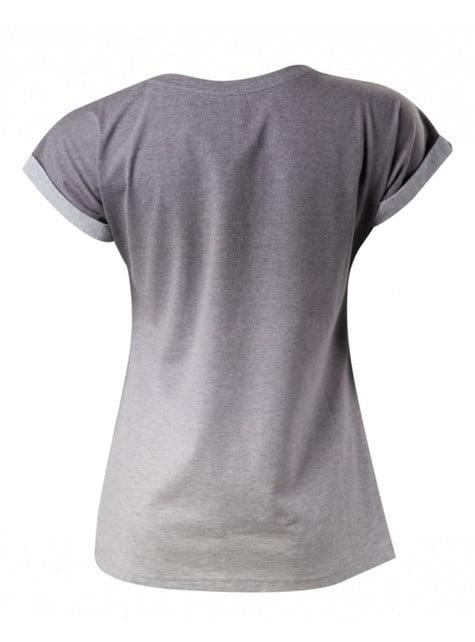 Graues T-Shirt mit Knöpfen PlayStation für Frauen