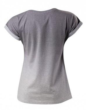 T-shirt de botões PlayStation cinzenta para mulher