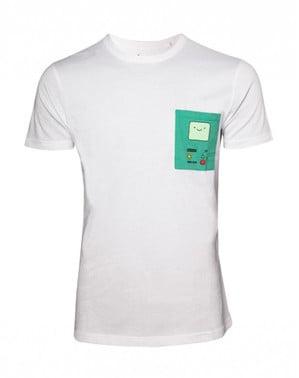 Valkoinen Adventure Time BMO T-paita
