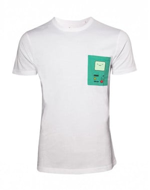 White BMO Adventure Time t-shirt