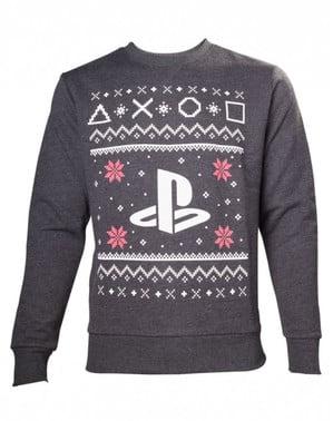 Sweatshirt natalícia de PlayStation para adulto