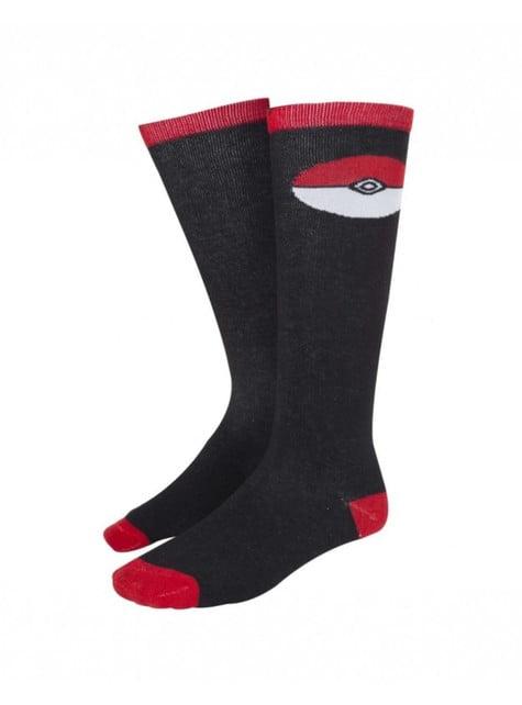 Calcetines de Pokeball negros para mujer