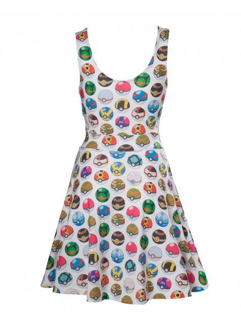 Vestido de Pokeball para mulher