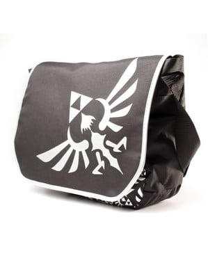 Schwarze Kuriertasche Zelda