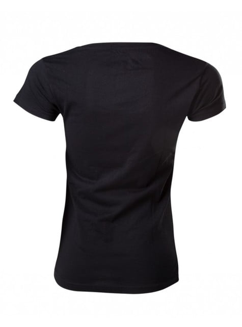 Camiseta de Zelda Breath of the Wild negra para mujer