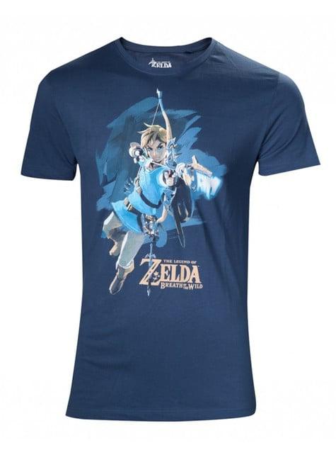 Camiseta de Zelda Breath of the Wild azul