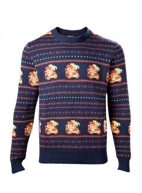 Blue Christmas Link jumper for men
