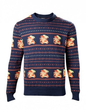 Blå Christmas Link jumper for menn
