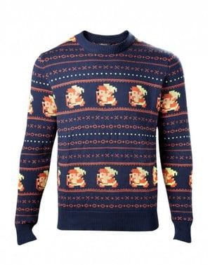 Blå Jule Link sweater til mænd