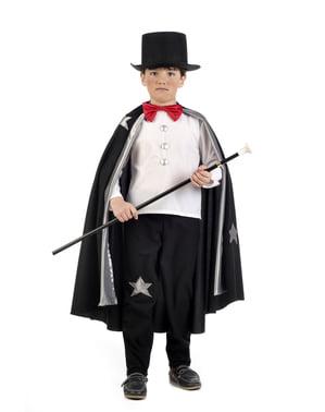 Fato de mago ilusionista para menino