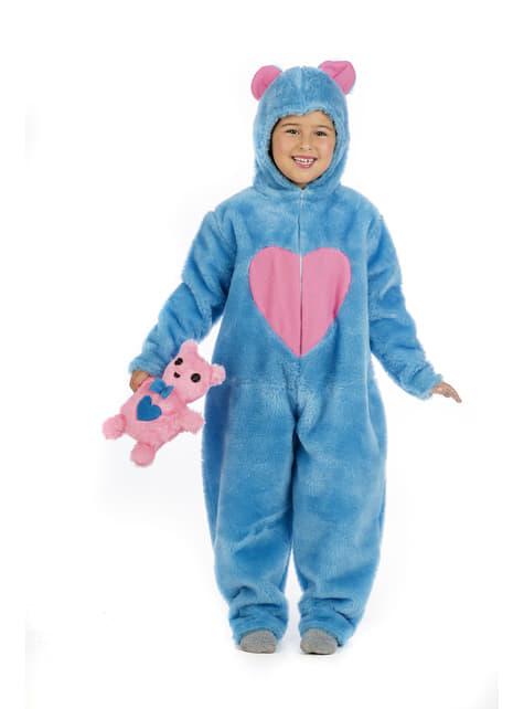 Disfraz de oso cariñoso azul para niño