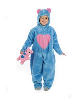 Fato de urso carinhoso azul para menino