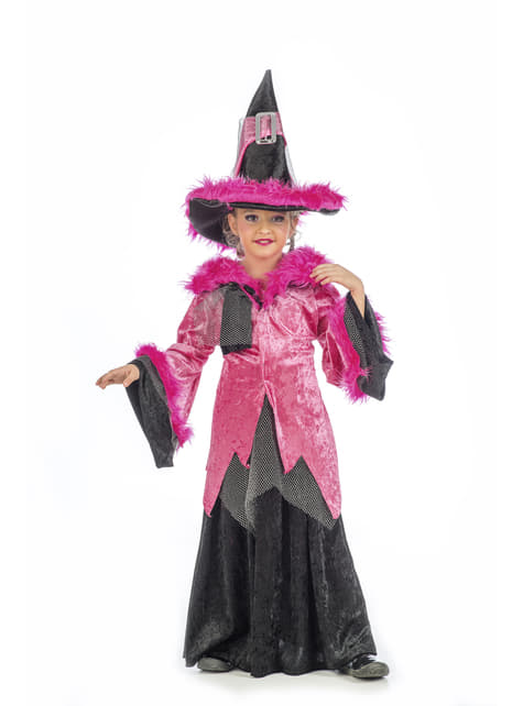 Pink bliss witch costume for girls