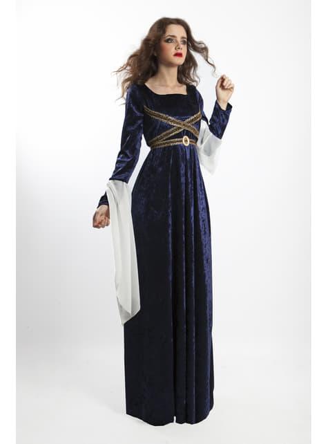Disfraz de señora del medievo para mujer