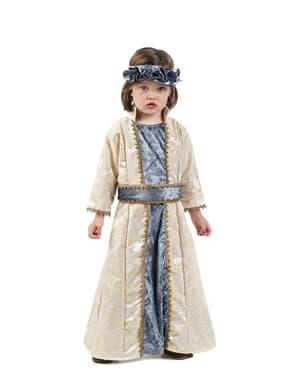 Dívčí kostým elegantní středověká princezna