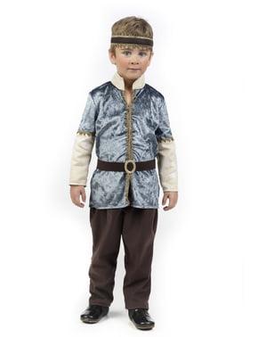 Maskeraddräkt prins medeltida elegant för barn