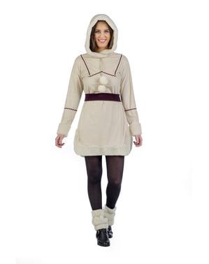 Eskimo-Fischerin Kostüm für Damen