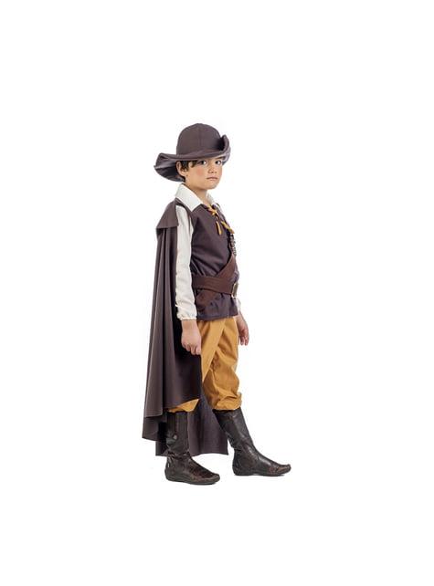 Disfraz de aventurero medieval deluxe para niño - traje