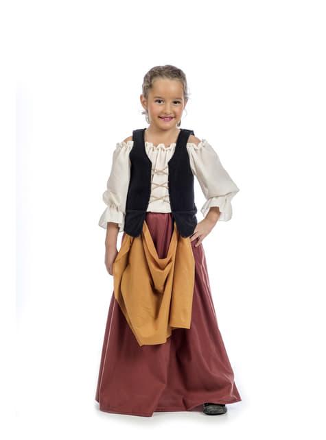 Medieval peasant girl costume
