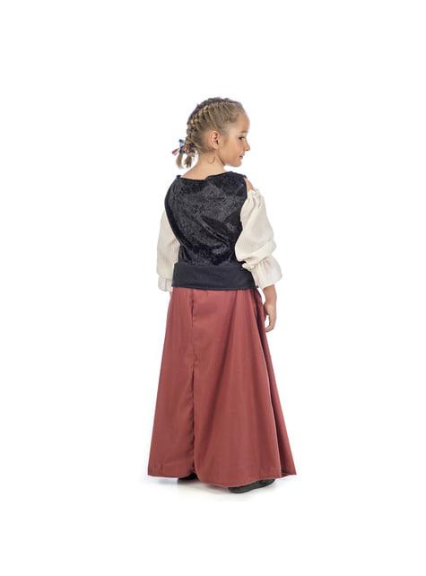 Middeleeuwse boerenmeisjes kostuum