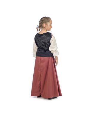 Costum de țărăncuță medievală pentru fată