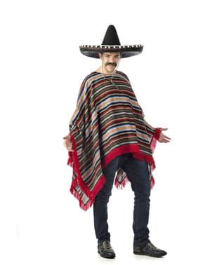 Mexikansk poncho plus size kostume til voksne, størrelse L
