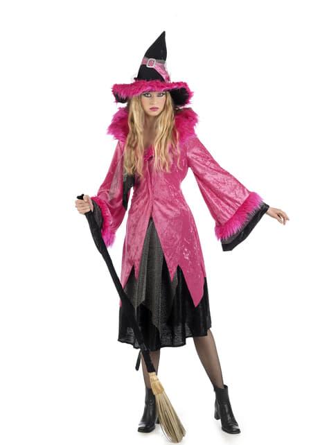 Kostium upadła wiedźma różowy damski