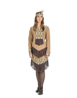 Indiaan kostuum van de stam voor vrouw