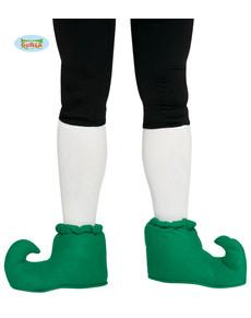 Groene elf schoenen gekrulde punt voor volwassenen