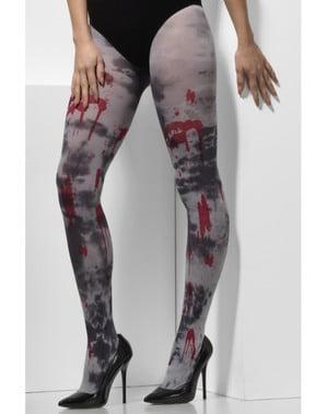 Collants zombie en sang femme