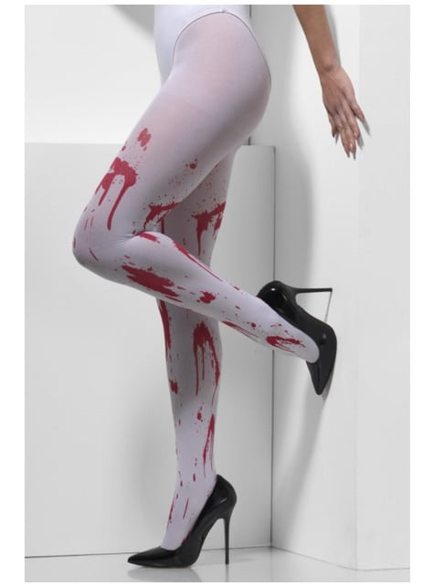 Collants blancs en sang femme