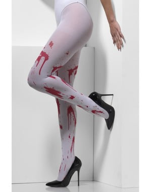 Women's bloodstained white tights