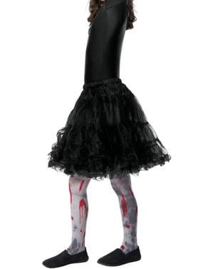 Blodplettede zombie strømpebukser til børn