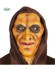 Máscara de hombre lagarto de látex con capucha para adulto