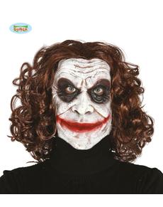 Máscara de psicópata bufón de látex para adulto