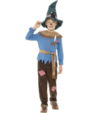 Blue scarecrow costume for Kids