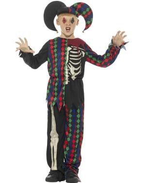 Costume da giullare scheletrico per bambino