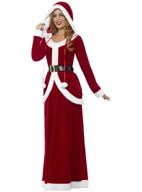 Kerstvrouw kostuum elegant voor vrouw