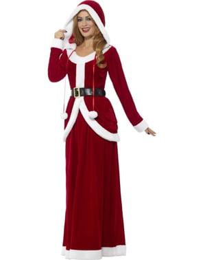 Dámsky elegantný vianočný kostým pani Klausová
