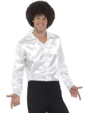 70er Hemd weiß