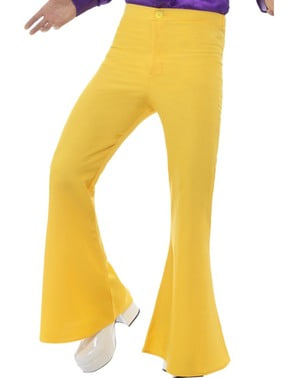 Men's yellow 70's trousers
