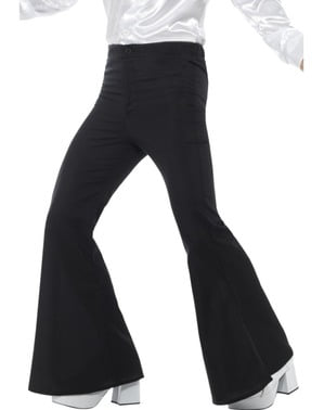 Spodnie czarne lata 70. męskie